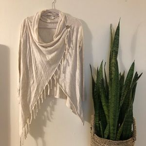 Love Stitch fringe trim cardigan